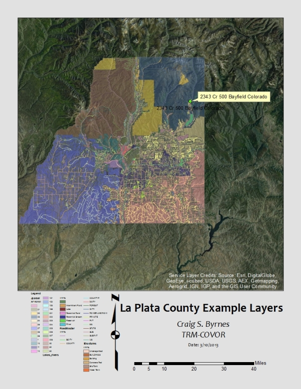 La Plata County Examples from the TRM-system